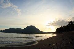 Nanganesa海滩, Ende 库存图片