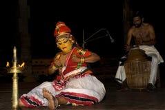 Nangiar kuthu, solo performance by women Royalty Free Stock Photography