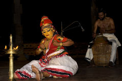 Nangiar kuthu, solo performance by women Royalty Free Stock Photography