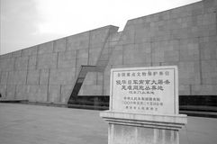 Nangjing massaker Royaltyfri Foto