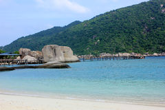Nangyuan海岛,泰国 免版税库存照片