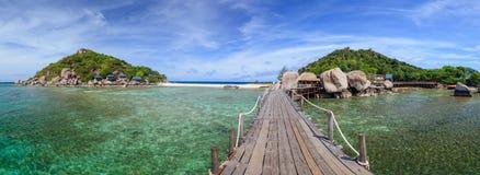 Nangyuan ö, Suratthani som är sydlig av Thailand Fotografering för Bildbyråer