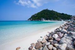 Nangyuan Island. Blue sea at Nangyuan Island stock photos
