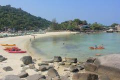 Nangyuan Island. April 8, 2014 Tourist attractions on White Sand Beach at Koh Nangyuan Surat Thani, Thailand Stock Image