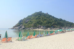 Nangyuan Island. April 8, 2014 Tourist attractions on White Sand Beach at Koh Nangyuan Surat Thani, Thailand Royalty Free Stock Photo