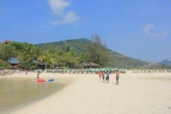 Nangyuan Island. April 8, 2014 Tourist attractions on White Sand Beach at Koh Nangyuan Surat Thani, Thailand Royalty Free Stock Photos