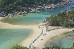 Nangyuan Island. April 8, 2014 Tourist attractions on White Sand Beach at Koh Nangyuan Surat Thani, Thailand Stock Images