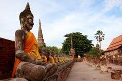 Buddha statue at Ayuthaya Stock Image