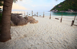 Nangyuan island beach in thailand. With morning light Stock Photo