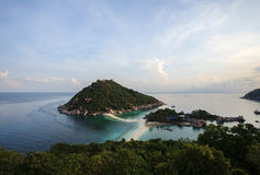 Nangyuan island beach in thailand. With morning light birds eye view Stock Images