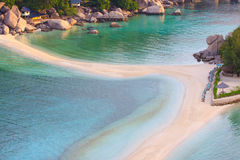 Nangyuan island beach in thailand. With morning light Royalty Free Stock Image