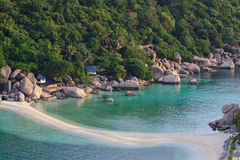 Nangyuan island beach thailand in the morning light Royalty Free Stock Photography