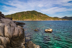 Nangyuan island of the clear ocean, blue sky Stock Photos