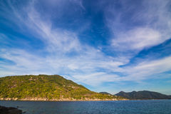 Nangyuan island of the clear ocean, blue sky Royalty Free Stock Image
