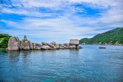 Beautiful landscape and seascape of Nangyuan island, the famous tourist destination near Samui island, Thailand. Nangyuan island, the famous tourist destination stock photos