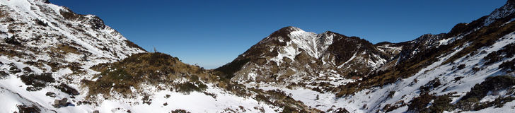 Nanhu bergvinter Fotografering för Bildbyråer