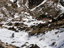 Nanhu bergvinter Arkivbild