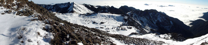 Nanhu-Gebirgswinter Stockbild