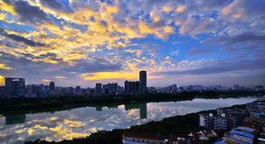Nanhu Park. Nanning City, GuangXi province China. Nanning is the capital city of Guangxi Zhuang Autonomous Region in southern China, which is only 160km away Royalty Free Stock Image