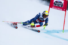 NANI Roberto in Audi Fis Alpine Skiing World-Kop Men's Reuzes stock foto