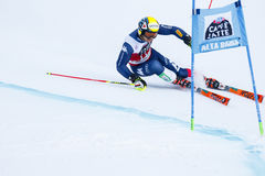 NANI Roberto in Audi Fis Alpine Skiing World-Kop Men's Reuzes Royalty-vrije Stock Foto's