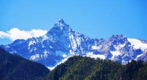 Nanjiapawa snow mountain. Linzhi area of Tibet Nanjiapawa snow mountain scene Royalty Free Stock Photo