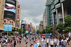 nanjing δρόμος Σαγγάη Στοκ Εικόνα