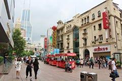 nanjing δρόμος Σαγγάη Στοκ Εικόνες