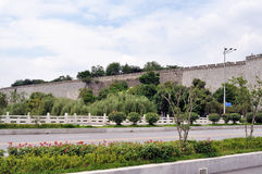 Nanjing ancient wall edge Stock Images