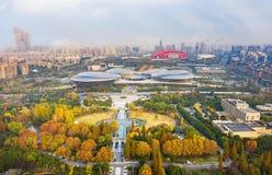 Nanjing Binjiang Park. Binjiang Park is located on Yangzijiang Avenue, Jianye District, Nanjing, Jiangsu province. Here you can feel the combination of movement stock photos