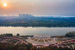 Nanjing Binjiang Park. Binjiang Park is located on Yangzijiang Avenue, Jianye District, Nanjing, Jiangsu province. Here you can feel the combination of movement royalty free stock photography