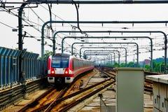 Nanjing, Chiński metro Zdjęcie Royalty Free