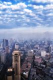 Nanjing China. A city view of Nanjing China from atop the zifeng tower during the day in Jiangsu province Stock Photography