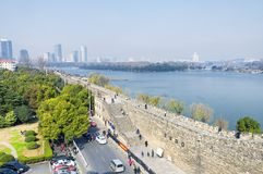 Nanjing china city wall stock image