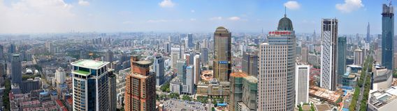 Nanjing City Center panorama, Nanjing, China Stock Photos