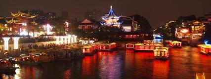 Nanjing City Konfucius tempel fotografering för bildbyråer