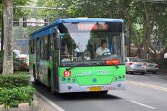Nanjing City offentlig buss, Kina Royaltyfria Foton
