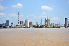 Nanjing City Skyline, China Royalty Free Stock Image
