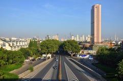 Nanjing City Skyline, China Royalty Free Stock Photography
