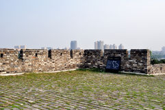 Nanjing city wall in the Ming dynasty. The nanjing city wall of Ming dynasty, not only is China's first big city, also is the world's largest city. After 600 Royalty Free Stock Photography