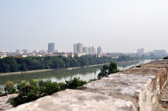 Nanjing city wall in the Ming dynasty. The nanjing city wall of Ming dynasty, not only is China's first big city, also is the world's largest city. After 600 Royalty Free Stock Images