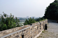 Nanjing city wall in the Ming dynasty. The nanjing city wall of Ming dynasty, not only is China's first big city, also is the world's largest city. After 600 Stock Image