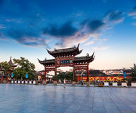 Nanjing confucius temple at dusk Royalty Free Stock Photo