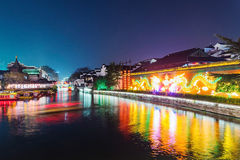 Nanjing downtown ancient town. Area Stock Photography