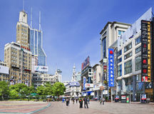 Nanjing East Road shopping street on a summer day, Shanghia, China Stock Photography