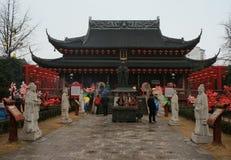 Nanjing Fuzimiao (den Konfucius templet) Royaltyfria Foton
