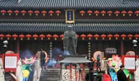 Nanjing Fuzimiao (den Konfucius templet) Royaltyfri Bild