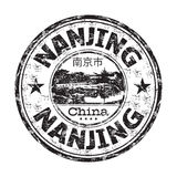 Nanjing grunge rubber stamp Royalty Free Stock Photo