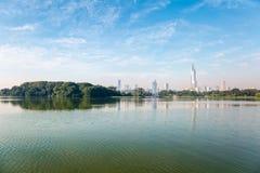 Nanjing i morgonen Fotografering för Bildbyråer