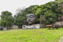 Nanjing industrial park 1865 bronze statue Royalty Free Stock Photo